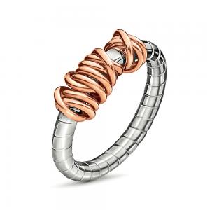 FOLLI FOLLIE - Επάργυρο δαχτυλίδι