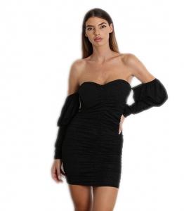 Φόρεμα bardot με γκλίτερ και