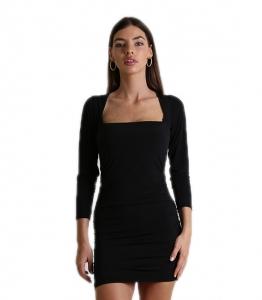 Φόρεμα ελαστικό σουρωτό (Μαύρο)