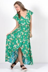 Φόρεμα εμπριμέ - Πράσινο.