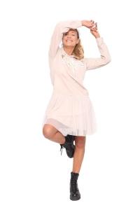 Φόρεμα Φούτερ Σε Μπεζ