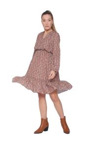 Φόρεμα Κοντό Boho Σε Apricot