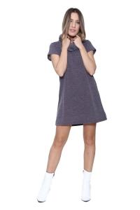 Φόρεμα Κοντομάνικο Σε Γκρι