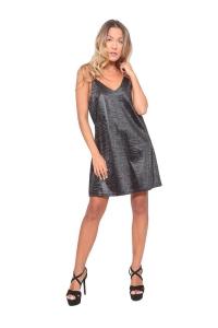 Φόρεμα Lingerie Με Σχέδια Σε Μαύρο