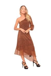 Φόρεμα Lurex Σε Χρυσό