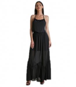 Φόρεμα μάξι εξώπλατο με δέσιμο