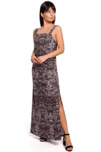 Φόρεμα μάξι με print - Γκρι