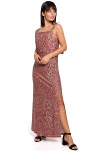 Φόρεμα μάξι με print - Ροζ