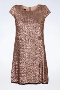Φόρεμα με Μπρονζέ Παγιέτες / Μέγεθος: ? - Εφαρμογή: XS / S