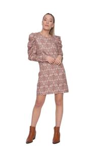 Φόρεμα Με Σχέδια Σε Μπεζ