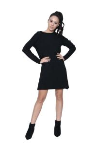 17d5dd9ebb2d Φόρεμα Με Σχέδιο Σε Μαύρο