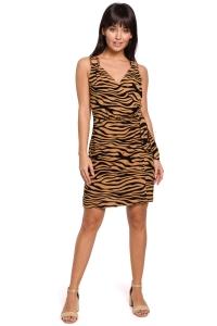 Φόρεμα με zebra print - Καφέ