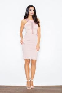 Φόρεμα μίνι αμάνικο με διαφάνεια