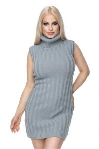Φόρεμα μίνι αμάνικο με ζιβάγκο
