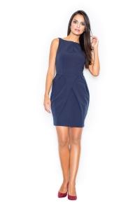 Φόρεμα μίνι αμάνικο - Μπλε