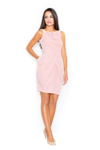 Φόρεμα μίνι αμάνικο - Ροζ
