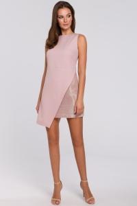 Φόρεμα μίνι ασύμμετρο με μεταλιζέ