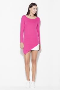 Φόρεμα μίνι ασύμμετρο - Ροζ