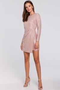 Φόρεμα μίνι μακρυμάνικο μεταλιζέ