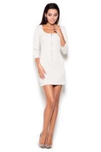 Φόρεμα μίνι με φερμουάρ μπροστά