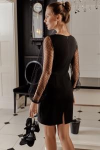 Φόρεμα μίνι με φουσκωτά διάφανα