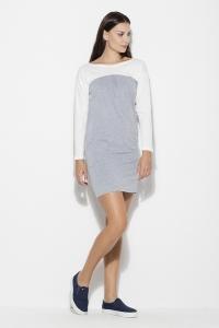 Φόρεμα μίνι με τσέπες - Γκρι