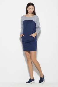 Φόρεμα μίνι με τσέπες - Μπλε