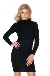 Φόρεμα μίνι με ζιβάγκο - Μαύρο