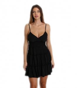 Φόρεμα μίνι τιράντα με ρυθμιζόμενες