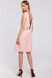 Φόρεμα μίντι αμάνικο με ανοιχτή