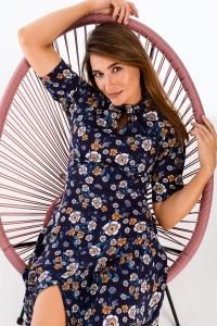 Φόρεμα μίντι κοντομάνικο φλοράλ