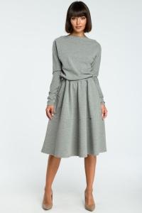 Φόρεμα μίντι με ελαστικότητα