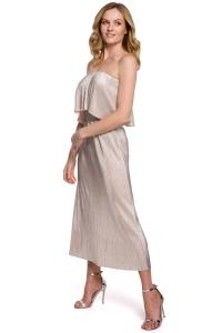 Φόρεμα μίντι με ελεύθερους