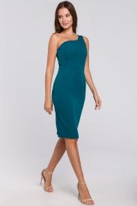 Φόρεμα μίντι με έναν ώμο -
