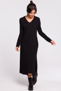 Φόρεμα μίντι με λαιμόκοψη