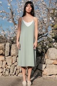 Φόρεμα μίντι με ραντάκι -