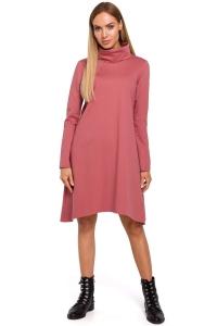 Φόρεμα μίντι με turtleneck