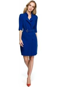 Φόρεμα μίντι με ζώνη - Μπλε