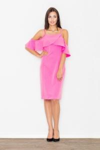 Φόρεμα μίντι ραντάκι με βολάν