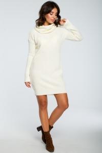 Φόρεμα πλεκτό μίνι με ζιβάγκο