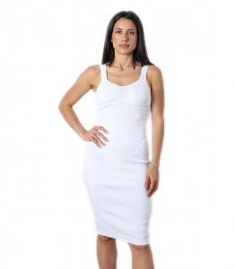 Φόρεμα ριπ midi (Λευκό)