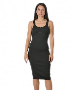Φόρεμα ριπ midi (Μαύρο)
