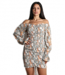 Φόρεμα sarina bardot (Βεραμάν)