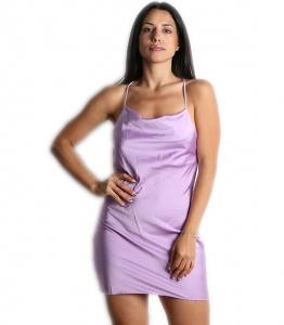Φόρεμα σατέν kim (Λιλά)
