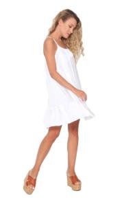 Φόρεμα Σατέν Σε Λευκό