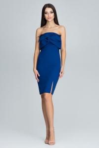 Φόρεμα στράπλες μίντι - Μπλε
