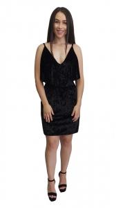 Φόρεμα velvet με φραμπαλά