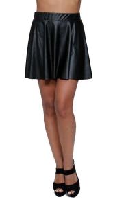 Φούστα Δερματίνη Σε Μαύρο