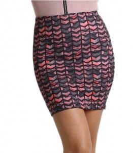 Φούστα ελαστική με μοτίβο (Ροζ)