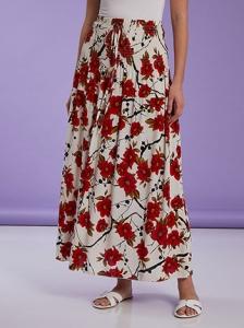 Φούστα φόρεμα με λουλούδια SH1709.2359+3